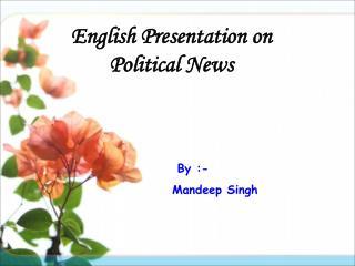 English Presentation on Political News