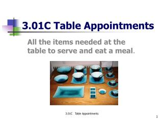 3.01C Table Appointments