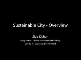 Sustainable City - Overview