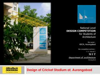 Design of Cricket Stadium at, Aurangabad