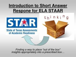 Introduction to Short Answer Respone for ELA STAAR