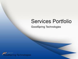 GoodSpring Portfolio