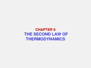 Chapter6. Cycle Analyses of Vapor Compression Refrigeration