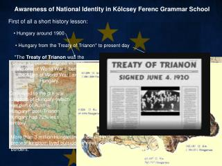 Awareness of National  I dentity in Kölcsey Ferenc Grammar School