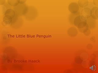 The Little  Blue Penguin By Brooke  Haack