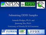 Submitting DDIS Samples