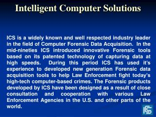 Intelligent Computer Solutions