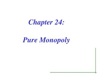 Chapter 24: Pure Monopoly
