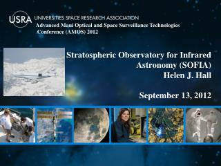 Stratospheric Observatory for Infrared Astronomy (SOFIA)  Helen J. Hall  September 13,  2012