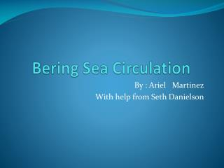 Bering Sea Circulation