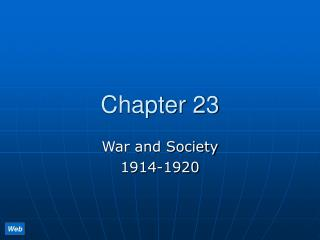 War and Society  1914-1920