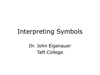 Interpreting Symbols