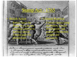 Stamp Act - 1765