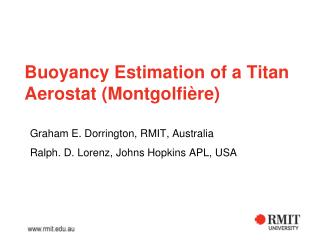 Buoyancy Estimation of a Titan Aerostat (Montgolfi ère)