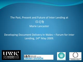 The Past, Present and Future of Inter Lending at abc Marie Lancaster