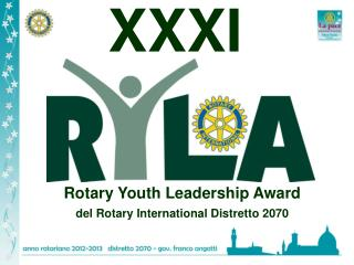Rotary Youth Leadership Award del Rotary International Distretto 2070
