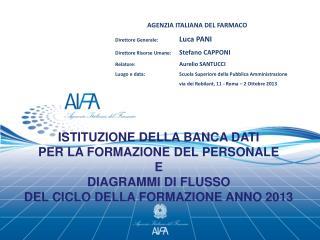AGENZIA ITALIANA DEL FARMACO  Direttore Generale: Luca PANI
