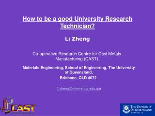 Materials Engineering, School of Engineering, The University of Queensland,  Brisbane, QLD 4072