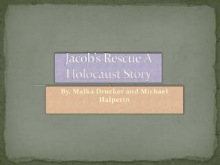 Jacob's Rescue A Holocaust Story