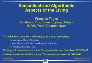 To tackle the complexity of biological systems, investigate Programming Theory Concepts