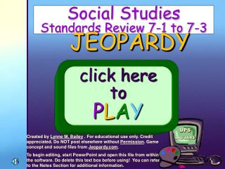 Social Studies   Standards Review 7-1 to 7-3