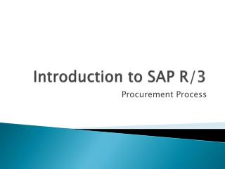 Introduction to SAP R/3