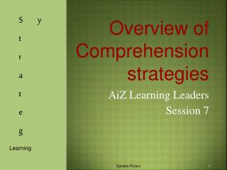Overview of Comprehension strategies