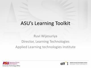 ASU's Learning Toolkit
