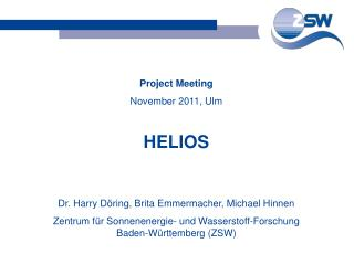 Project Meeting November 2011, Ulm