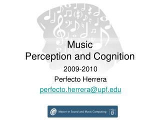 Music  Perception and Cognition