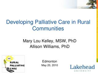Developing Palliative Care in Rural Communities