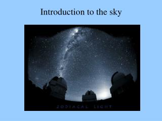 Introduction to the sky