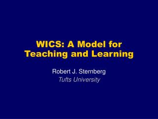 WICS: A Model for Teaching and Learning