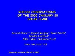 RHESSI OBSERVATIONS  OF THE 2005 JANUARY 20 SOLAR FLARE