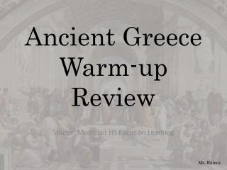 Ancient Greece Warm-up Review