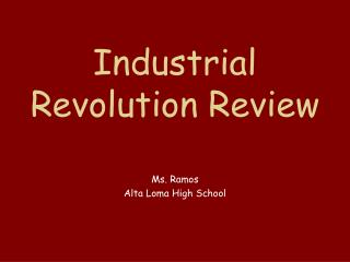 Industrial Revolution Review