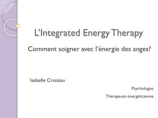 L' Integrated Energy Therapy