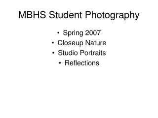 MBHS Student Photography