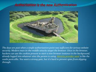 Authorization is the new Authentication