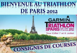 BIENVENUE AU TRIATHLON  DE PARIS  2012