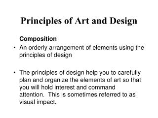 Principles of Art and Design