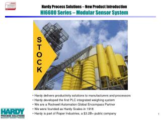 Hardy Process Solutions – New Product Introduction HI6600 Series – Modular Sensor System