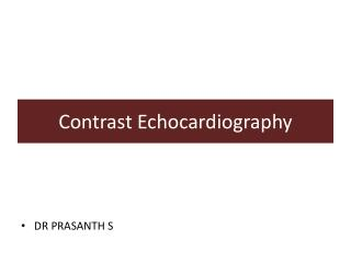 Contrast Echocardiography