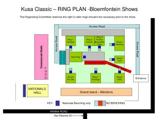 Kusa Classic – RING PLAN -Bloemfontein Shows