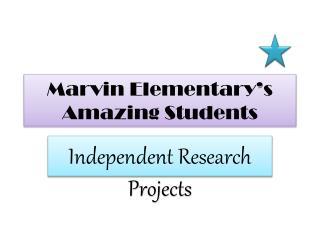 Marvin  Elementary's Amazing Students