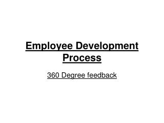 Employee Development Process