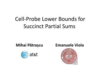 Cell-Probe Lower Bounds for Succinct Partial Sums
