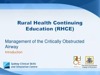 Rural Health Continuing Education (RHCE)
