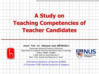 A Study on  Teaching Competencies of Teacher Candidates