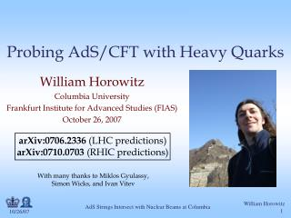 Probing AdS/CFT with Heavy Quarks